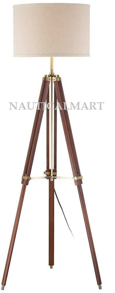 【当店一番人気】 NAUTICALMART チェリー仕上げ 木製 測量器 三脚 フロアランプ   B07MCVRQ5M, レザークラフト優 プラス be726cf5