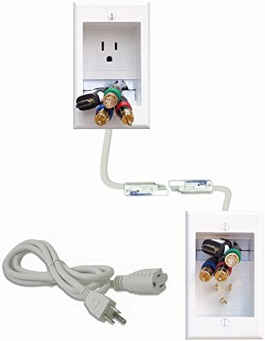 PowerBridge ONE-CK Recessed In-Wall Cable Management System with PowerConnect for Wall-Mounted Flat Screen LED, LCD, and Plasma TV s