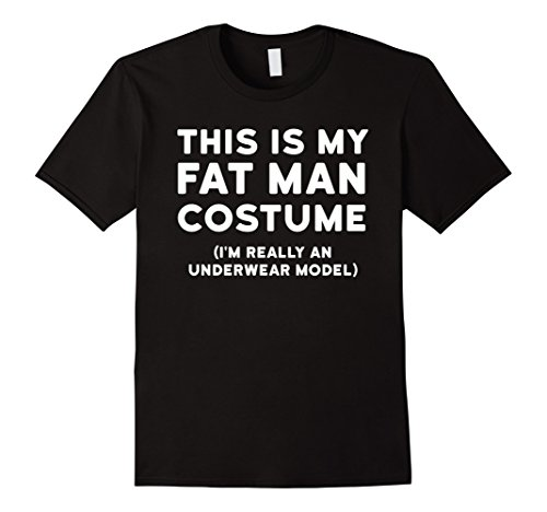 Mens Funny Halloween Costume Shirt - Fat Man Underwear Model Tee 3XL Black