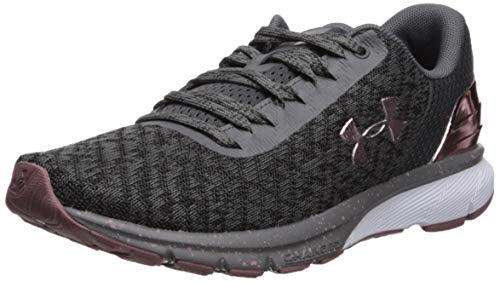 Under Armour Women's Charged Escape 2 Chrome Running Shoe, Graphite (100)/White, 6.5 M US