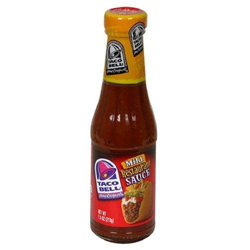 Taco Bell Restaurant Sauce  Mild  7 5 Ounce Glass Bottles  Pack Of 12