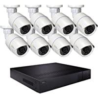 Q-See QT816-8CY-3 16 Channel H.265 IP NVR 8 4MP Bullet Cameras Plus 3TB