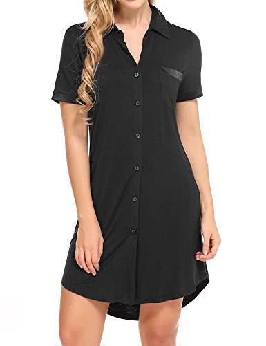 Avidlove women sexy boyfriend sleep shirt short sleeve for Sleep shirt short sleeve