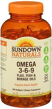 Sd Nat Triple Omega 3-6-9 Size 200ct Sd Naturals Triple Omega 3-6-9 200ct
