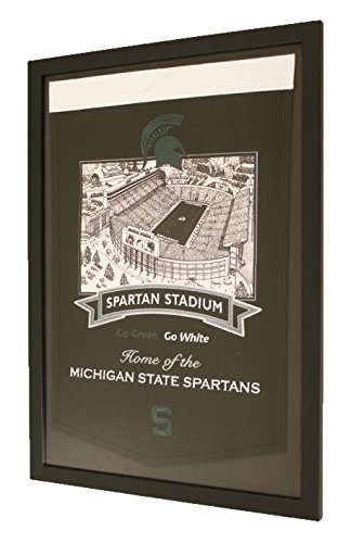 Michigan State Spartans NCAA Framed Stadium Series Banner by NCAA
