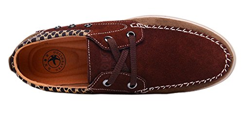 Passionow Christmas Mens 2015 New British Style Low Top Lace-up Leather Fashion Casual Shoes(9 D(M)US, Coffee)
