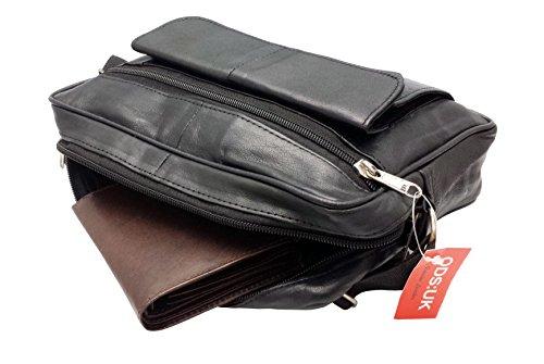 Bolso negro para de UK única Talla ODS al hombre hombro piel negro 8w5AYZ