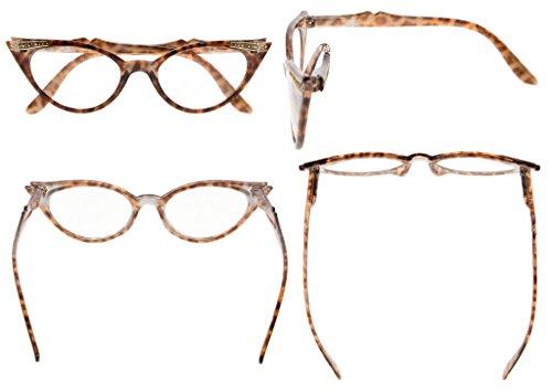 mujer gafas para sol Gris de Eyekepper Tortuga 0 Lens cateyes 00 wBOx5qBWX