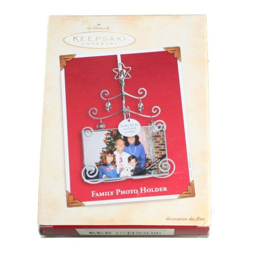 Hallmark Photo Holder (Hallmark Keepsake Ornament Family Photo Holder Ornament 2002 QX8693)