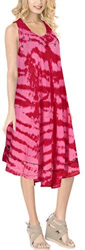 Rayon g402 Dye Dalla Spiaggia Rosa La Lavorano Del Partito Casuale Tie Leela Donne QrsdCth