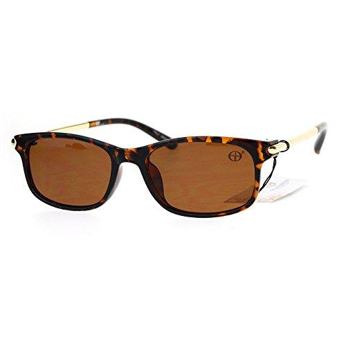 Metal Rod Arm Designer Fashion Narrow Rectangular Luxury Sunglasses - Sunglasses Narrow Bridge