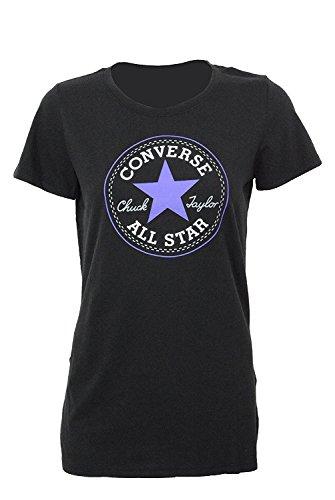 Converse Women's All-Star Chuck Taylor Patch Graphic T-Shirt Tee (Medium)