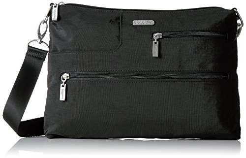 Baggallini Tablet Crossbody Messenger Bag - Lightweight, Multi-Pocketed Travel Bag with Tablet Pocket and Removable RFID Wristlet (Sale Coupon Daily)