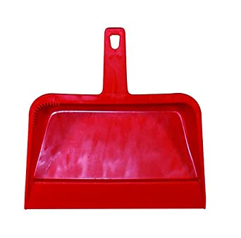 """Impact 703 Plastic Dust Pan, 12"""" Length x 12"""" Width x 4"""" Height, Red (Case of 12)"""