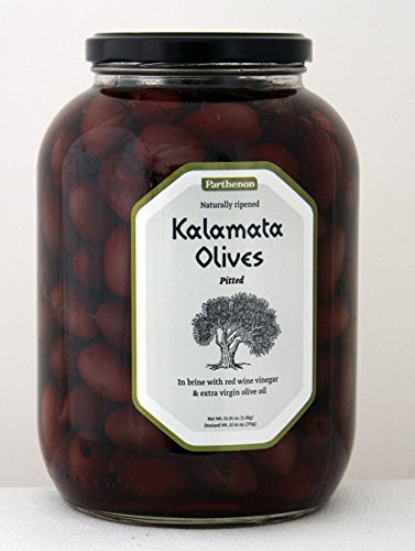 Parthenon Pitted Kalamata Olives in Brine with Red Wine Vinegar & Extra Virgin Olive Oil 52.91oz