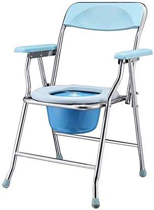 MMPY Edelstahl-WC-Sitz, Anti-Rollover, Faltbare WC-Sitz, Geeignet for Senioren, Schwangere, Menschen mit Behinderungen und Menschen Wiederherstellen