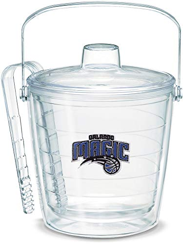 Tervis 1052273 NBA Orlando Magic Primary Logo Ice Bucket with Emblem and Clear Lid 87oz Ice Bucket, Clear (Tervis Bucket Ice)