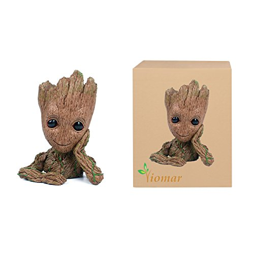 Baby Groot Flowerpot, The Guardians of Galaxy Flower Pot Cute Baby Action Figures Model Toy Pen Pencil Holder PVC Plant Holder (Pot Pvc)