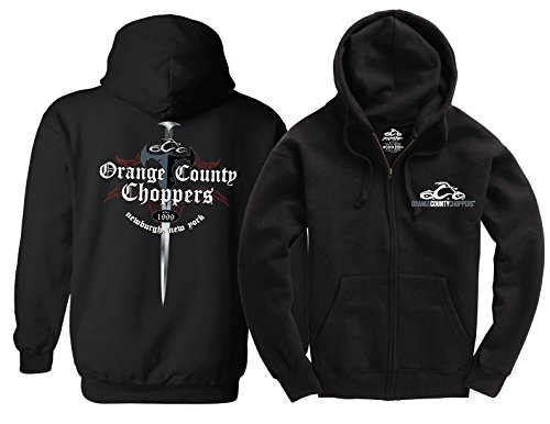 OCC Orange County Choppers Hoodie Shop Dagger Zip Black