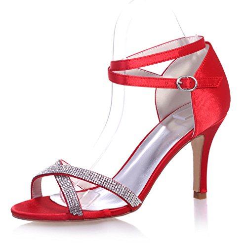 Colores Satén De L Disponibles Zapatos Tacones Boda Red Noche yc 05 Altos Más Para Y Mujer 9920 wSYqn64Y0