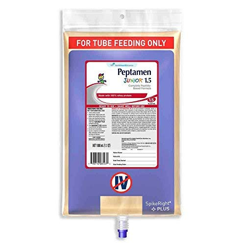 - Nestle Peptamen Junior 1.5 Peptide Based Formula Tube Feeding, 33.8 Fluid Ounce -- 6 per case.