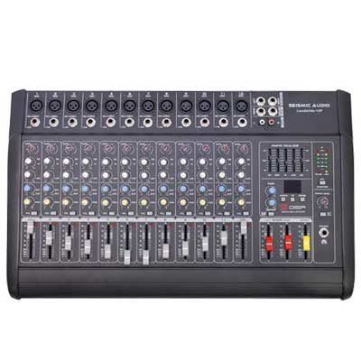 Seismic Audio - LandSlide-12P - 12 Channel DSP Professional Powered Mixer - Power by Seismic Audio