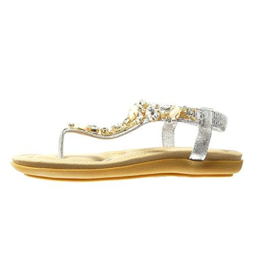 Angkorly - damen Schuhe Sandalen Flip-Flops - T-Spange - Schmuck - Strass  ...