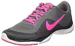 Nike Womens Wmns Flex Trainer 6, Cool Greypink Blast-dark Grey, 10.5