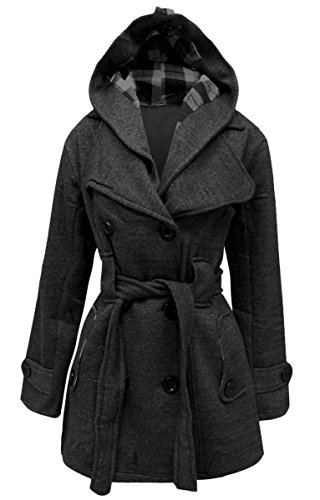 Delle Con Donne Cintura Duffle Con Coat Cappuccio Invernale Signore Delle Pile Carbone Outwear Giacca Vincenza In Montgomery S4HcdqqA