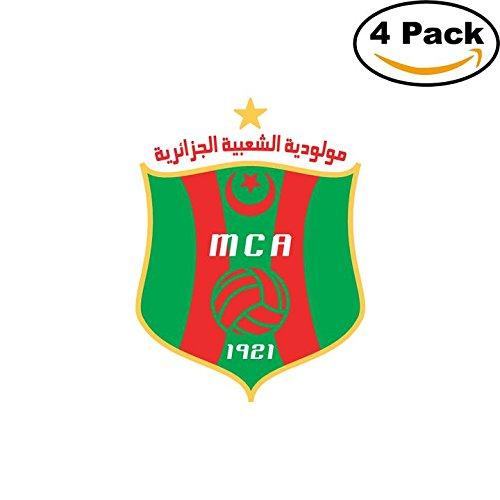 fan products of Mouloudia Club Alger MCA Algeria Soccer Football Club FC 4 Stickers Car Bumper Window Sticker Decal 4X4