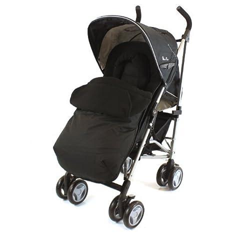 Silver Cross Pop - saco para carrito con soporte para la cabeza, muy acolchado negro: Amazon.es: Bebé
