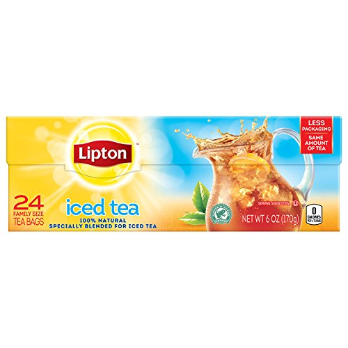 - Lipton Family-Sized Black Iced Tea Bags, Unsweetened 24 ct