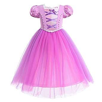 OwlFay Disfraz Rapunzel Niña Vestido de Princesa Sofia Traje ...