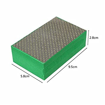 95*58mm 60-3000 Grit Diamond Hand Pad For Granite Concrete Marble Glass