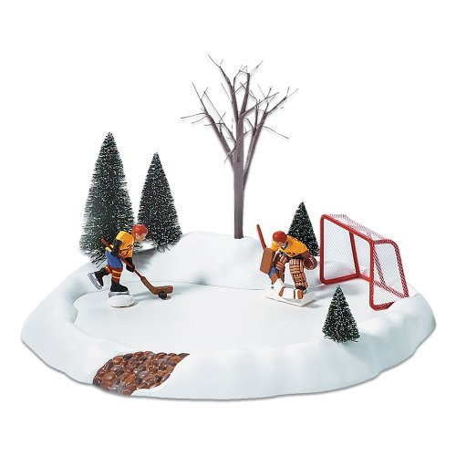 Department 56 Accessories for Villages Hockey Practice Animated Accessory - Christmas Animated Snow
