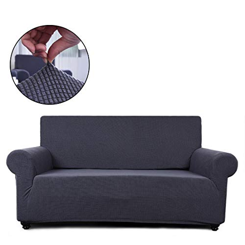 - Fairyland Sofa Cover loveseat Chair Slipcover,1 Piece Couch Shield Furniture Protector with Elastic Bottom (Loveseat, Gray)