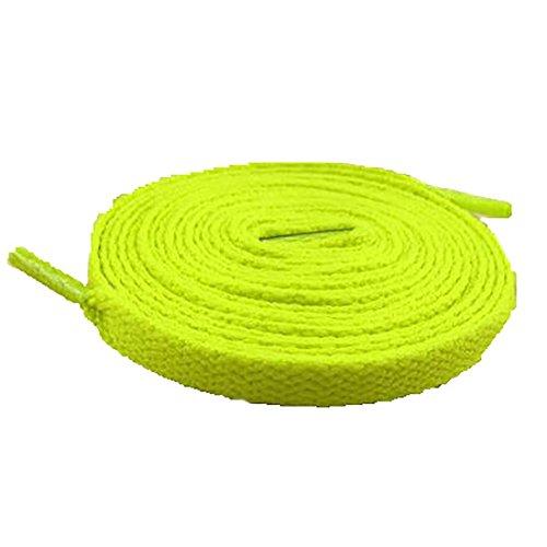 Gelb Turnschuhe und Flat Fluoreszierendes Schnürsenkel Schuhseil YaToy Ersatzschnur für Sportschuhe zqAaT
