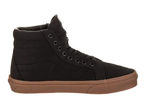 Unisex Vans Sk8-hi Slanke Vrouwen Skate Shoe Canvas Gom Black / Light Gum