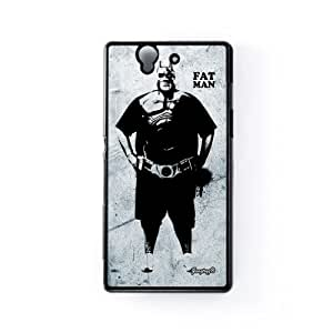 Fat Man Carcasa Protectora Snap-On en Plastico Negro para Sony® Xperia Z de Gangtoyz + Se incluye un protector de pantalla transparente GRATIS