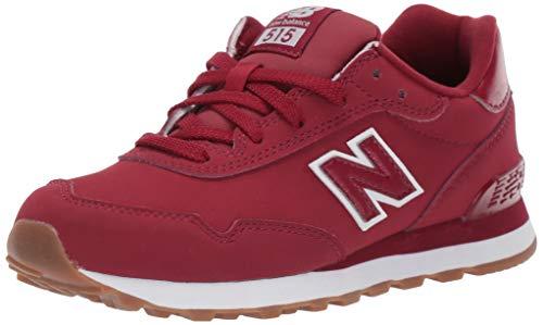 New Balance Boys' 515v1 Sneaker, NB Scarlet/White, 13 W US Little Kid