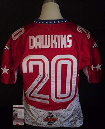 Brian Dawkins Denver Broncos Autographed Signed 2010 Pro Bowl Jersey - Autographed Signed Memorabilia JSA COA