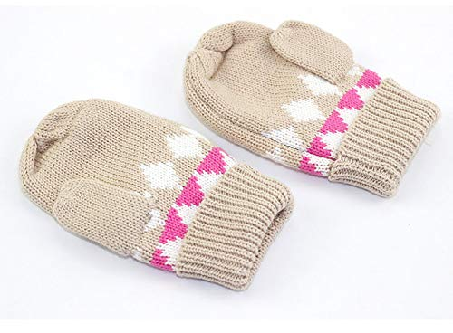 ACVIP Little Girls Bowknot Cotton Blend Knit Cold Weather Mittens