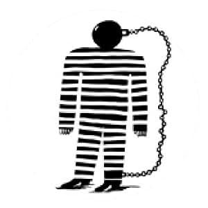 alfombrilla de ratón Prisionero de ideas - ronda - 20cm