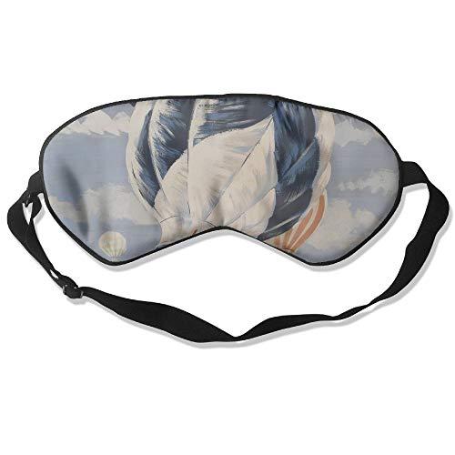 Longnankejilifeaa Sleep Eyes Mask Covers Hot Air Balloon Art.JPG Silk Sleeping Blindfold Cool Adjustable Strap Eyeshade Travelling Shift Work Night Noon Nap Yoga ()