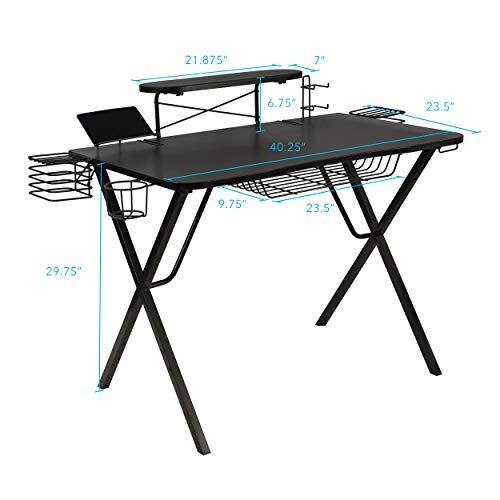 Atlantic Gaming Original Gaming-Desk Pro - Curved-Front, 10...