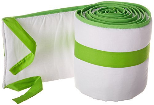 Babykidsbargains Modern Hotel Style Round Crib Bumper, Green Apple