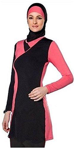 m Swimwear Islamic Swimsuit for Women Hijab Swimwear Full Coverage Swimwear Muslim Swimming Beachwear Swim Suit (Int'l – S, NO-3) ()