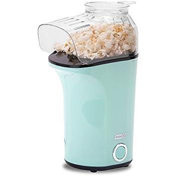 DASH Popcorn Machine: Hot Air Popcorn Popper + Popcorn Maker with Measuring Cup to Measure Popcorn Kernels + Melt Butter - Aqua