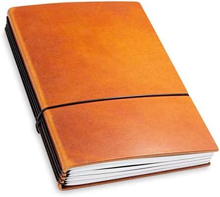 A5, revolutionäres X17-Notizbuch! Belgisches Leder braun, brandy Inhalt: 4 Notizhefte (blanko, liniert, kariert, gepunktet) austauschbar=nachhaltig! Made in Germany, 17 Jahre Garantie auf die Hülle