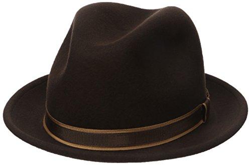Country Gentleman Men's Clooney Fedora Hat with Contrast ...